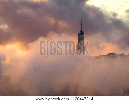 Ligthouse in the clouds