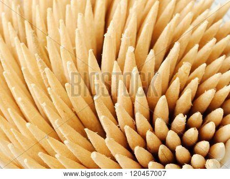 Bunch Of Wooden Toothpicks