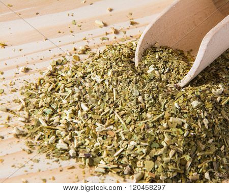 dry yerba mate leaves