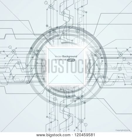 Modern high-tech business background vector design