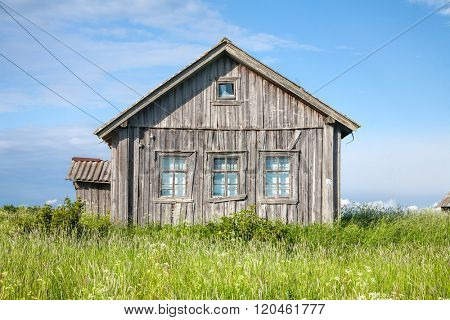 Old weathered wooden house exterior