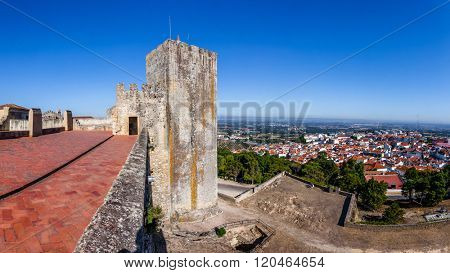 Palmela, Portugal. The City of Palmela  seen from the Castle Watchtower.