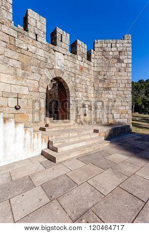 Barbican of the Feira Castle. Santa Maria da Feira, Portugal.