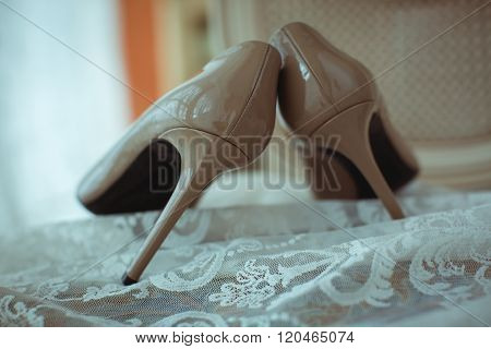 Beige Female Shoes