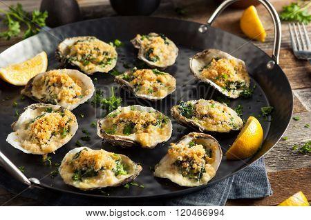 Homemade Creamy Oysters Rockefeller