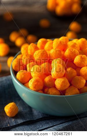 Unhealthy Cheesy Cheese Puffs