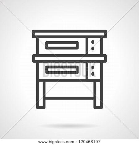 Baking equipment black line design vector icon