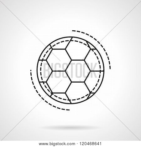 Soccer ball flat line design vector icon