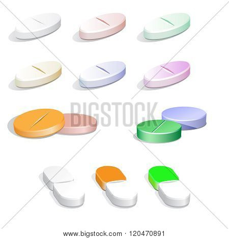 Vector colorfull  pills