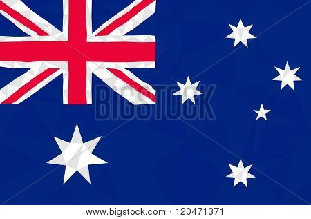 Australia low poly triangulate flag in EPS 8 format.
