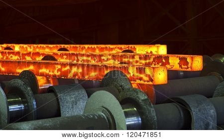hot steel slabs