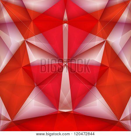 Abstract Geometrical Samurai. Vector Illustration
