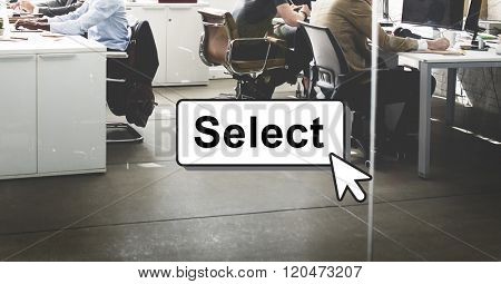 Select Pick Selecting Compare Selection Targeting Concept