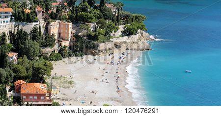 Residential Buildings On Beach Line