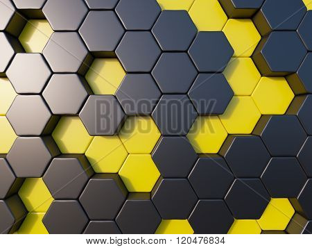 Abstract Metal Bee Hive Background