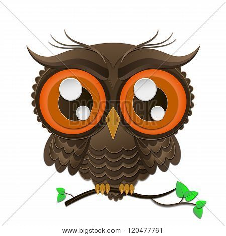 Vector Illustration Of Owl.