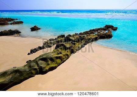 Morro Jable beach Fuerteventura at Canary Islands of Spain