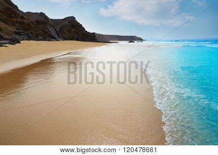 Fuerteventura La Pared beach at Canary Islands Pajara of Spain