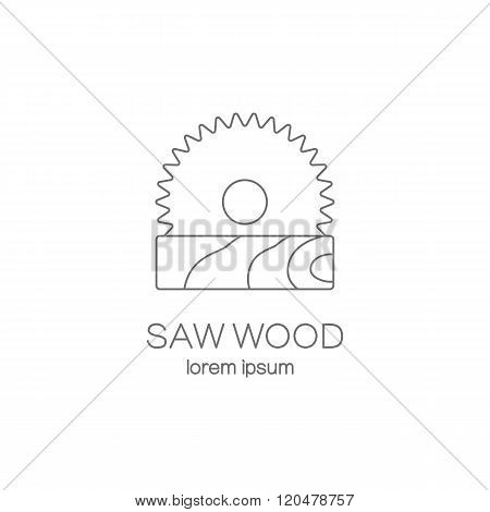 Saw wood logotype design templates.