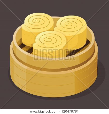 Custard Roll Sponge Cake Dim Sum