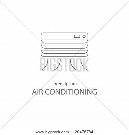 Air conditioning service logotype design templates.
