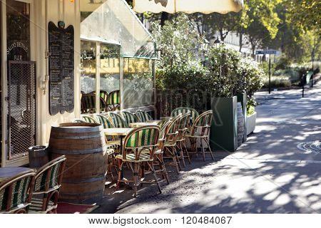 French Restaurant Scene, Paris France, Sidewalk Cafe