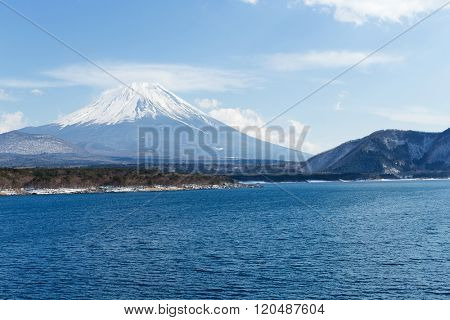 Mountain Fuji with Lake Motosu