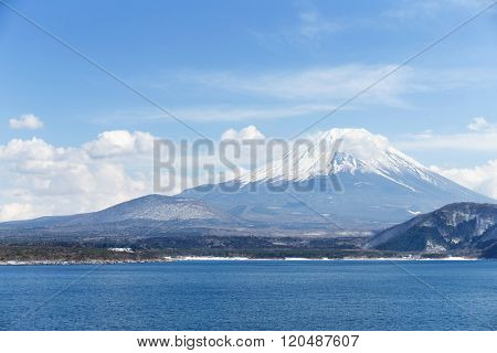 Mt. Fuji with Lake Motosu in Japan