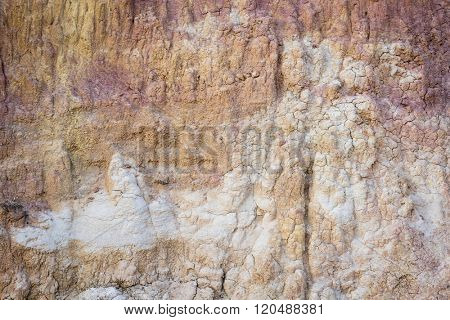 colorful forms of clay erosion at Paint Mine Interpretive Park A t Calhan bear Colorado Springs, Colorado