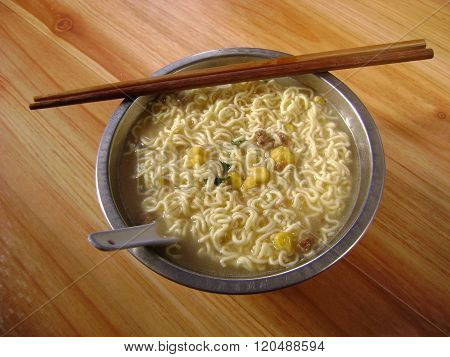 Corn Vegetable Noodle Soup