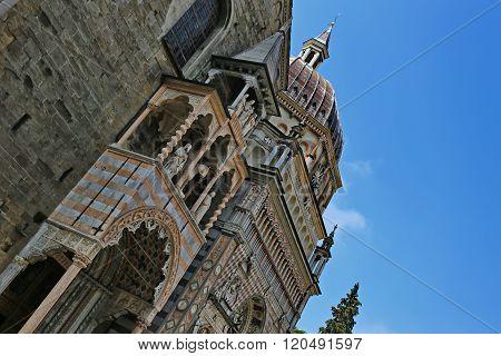 Cappella Colleoni and Basilica di Santa Maria Maggiore in Duomo´s square of Bergamo, Lombardy, Italy