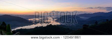 Beautiful Landscape With Twilight Sky