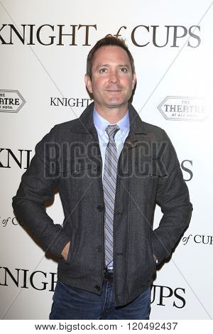LOS ANGELES - MAR 1:  Thomas Lennon at the Knight of Cups Premiere at the The Theatre at The ACE Hotel on March 1, 2016 in Los Angeles, CA