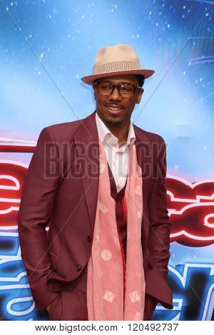 LOS ANGELES - MAR 3:  Nick Cannon at the America's Got Talent Judges Photocall at the Pasadena Civic Auditorium on March 3, 2016 in Pasadena, CA