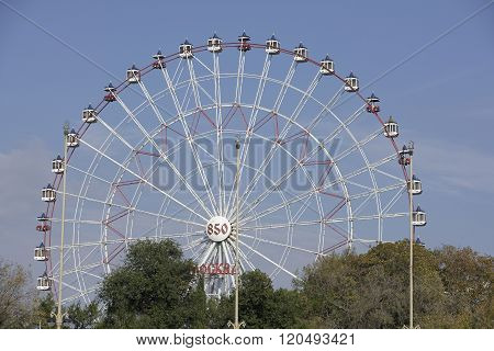 MOSCOW RUSSIA- OCTOBER 5- Ferris Wheel at VDNH on October 5; 2015 in Moscow