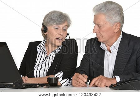 portrait of older people working