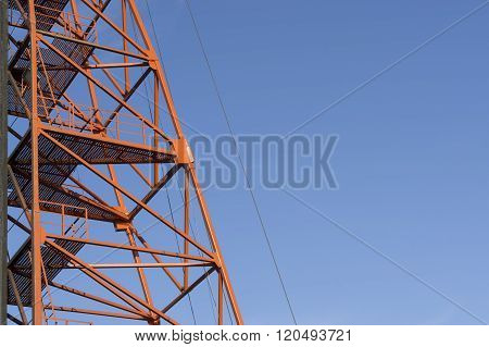 Red Metal Scaffolding