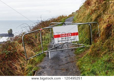 Danger No Access Warning Board