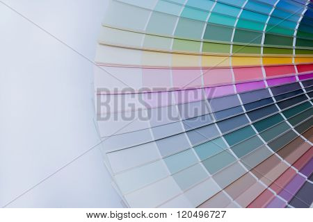 Color palette guide on white background .