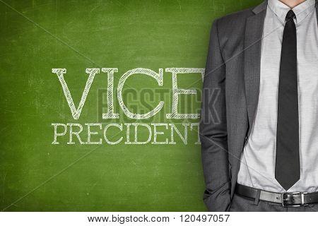 Vice president on blackboard