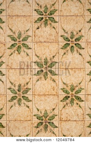 Seamless Tile Pattern Of Ancient Ceramic Tiles