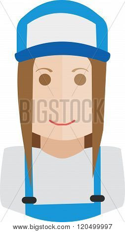 avatar work wear mechanic vector flat design