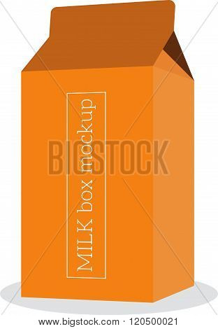 Package, milk box vector template mock up