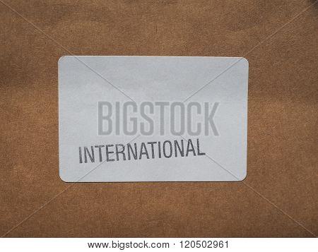 International Label On Packet