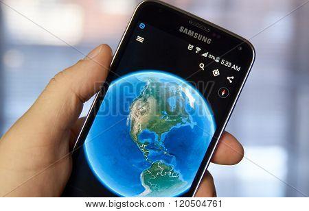 Google Earth Mobile App.
