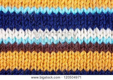 Stripped Knitted Background