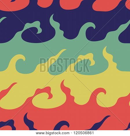 Seamless Pattern Waves color 5