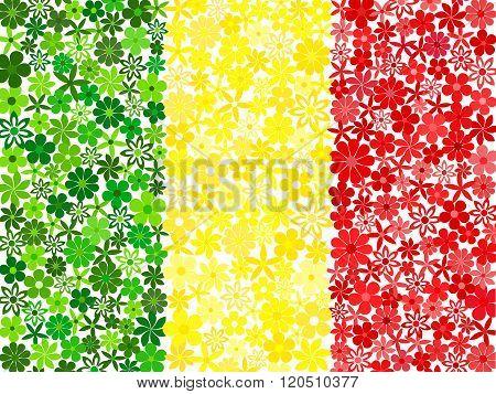 Floral mosaic Malian flag