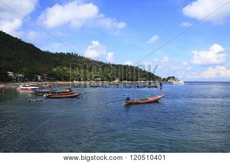 A Fisherman Pier On The South Side Of Koh Phangan