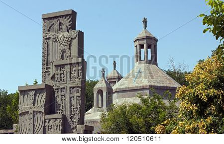 Khachkars,cross Stones Of Echmiadzin Monastery